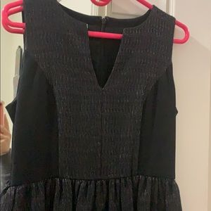Black dress with texture size 6 brand name 4c